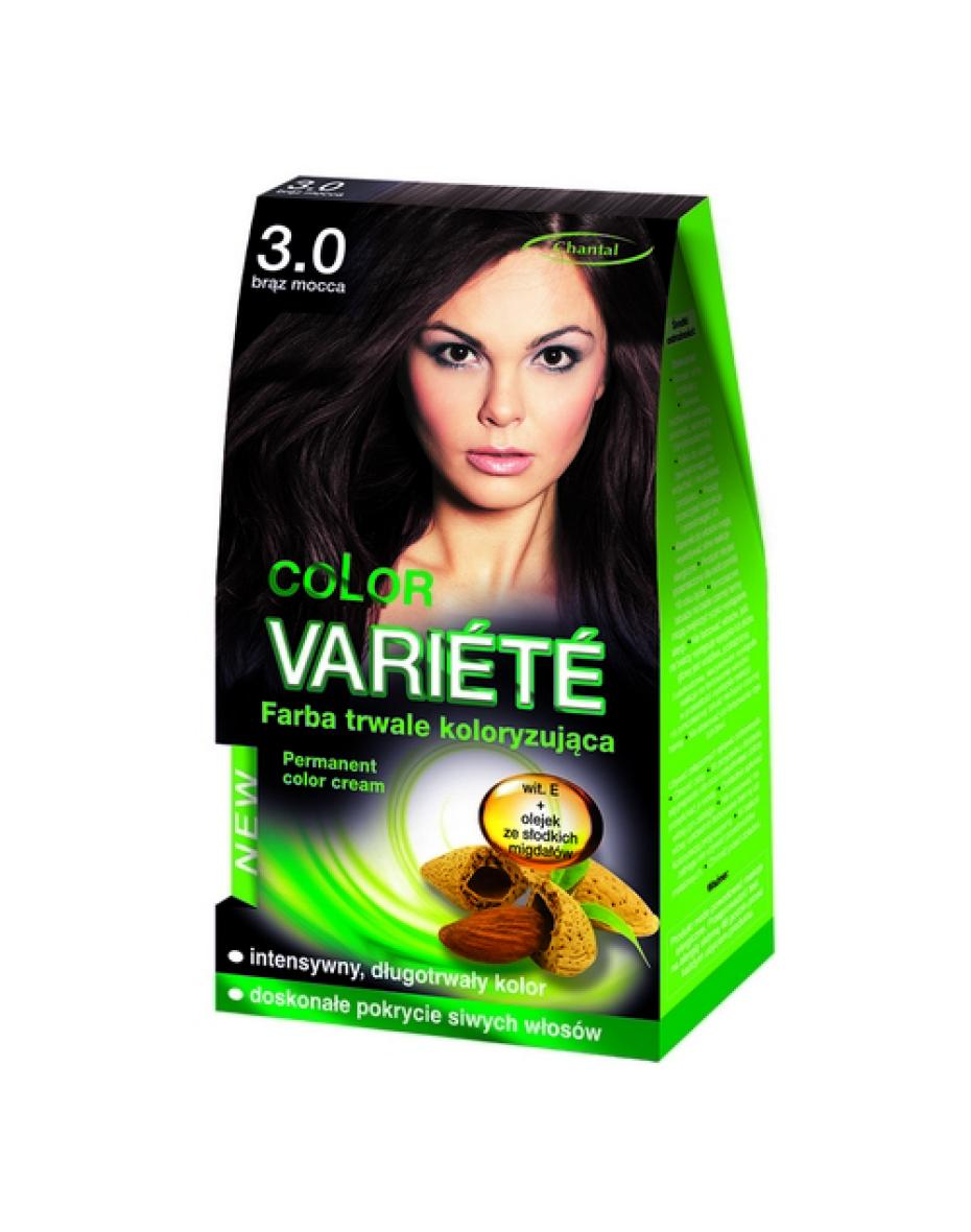 Краска для волос 3.0 Коричневый мокка Variete