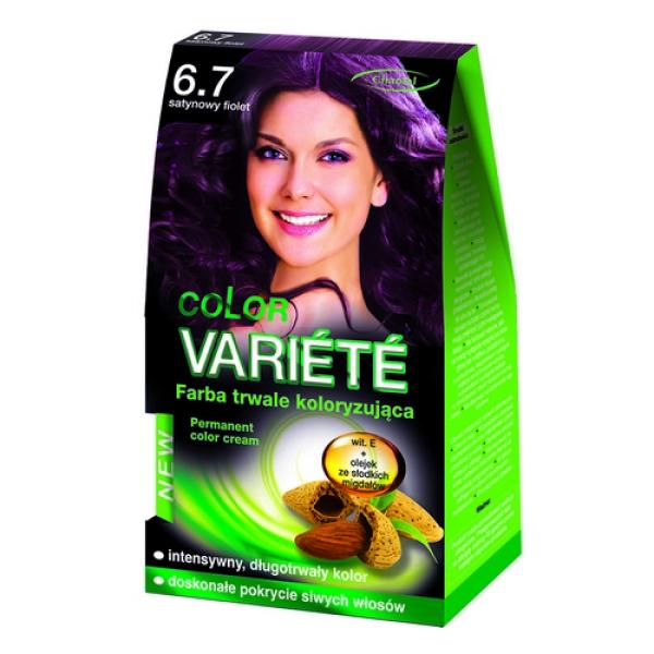 Краска для волос 6.7 Глянцевий фиолет Variete