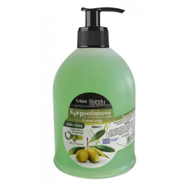 Жидкое мыло с дозатором с оливковым маслом 500мл Miss Sandy