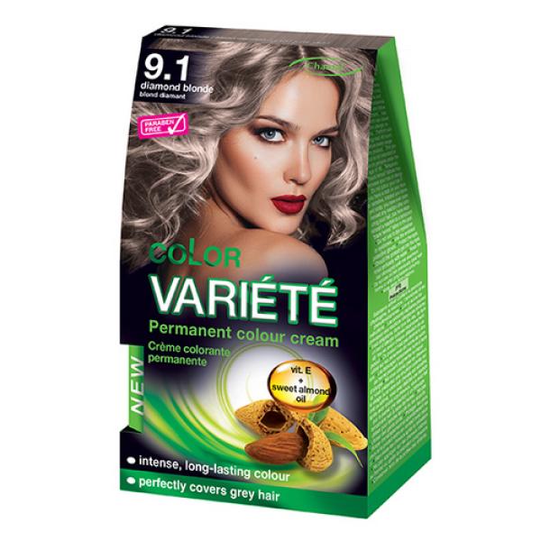 Краска для волос 9.1 Бриллиантовый блондин Variete