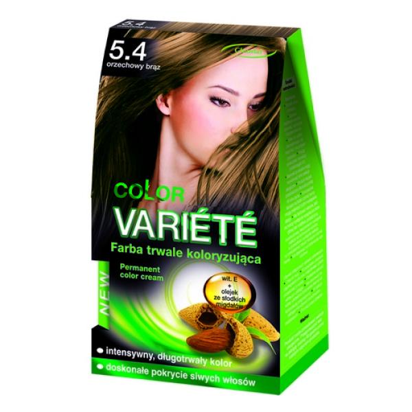 Краска для волос 5.4 Орехово-коричневый Variete