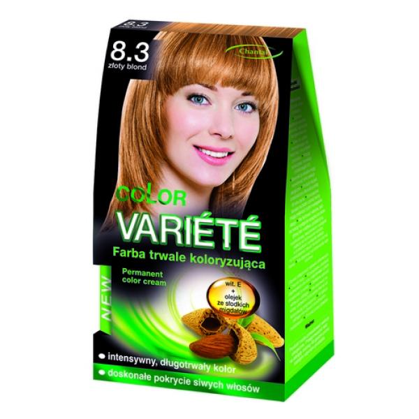 Краска для волос 8.3 Золотой блондин Variete