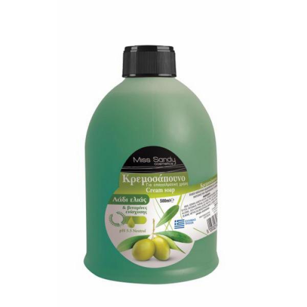 Жидкое мыло сменный блок з оливковою олією 500мл Miss Sandy