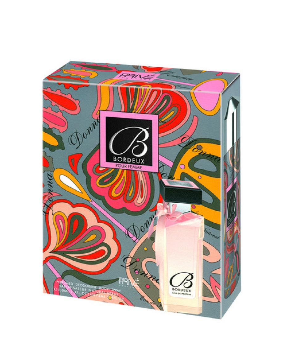 Bordeux п/в 100мл+Део 175мл набор жен Prive Parfums