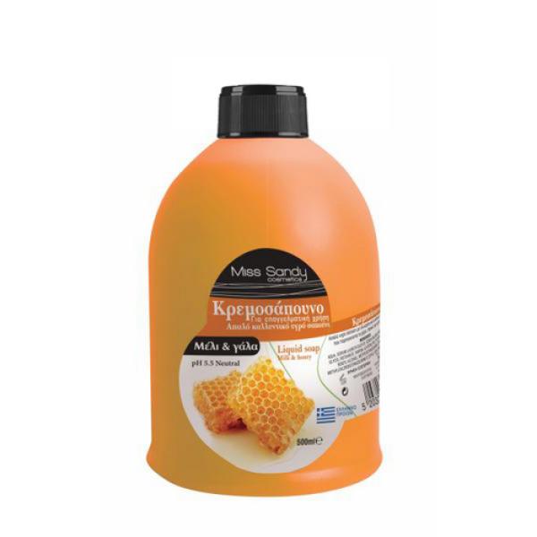 Жидкое мыло сменный блок молоко та мед 500мл Miss Sandy