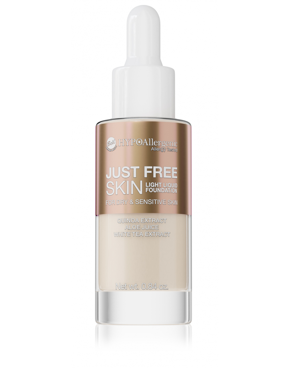Флюїд Just Free Skin Light Foundation 01 Hypo Allergenic Bell