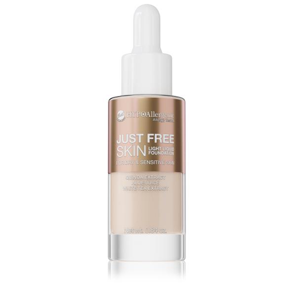 Флюїд Just Free Skin Light Foundation 02 Hypo Allergenic Bell
