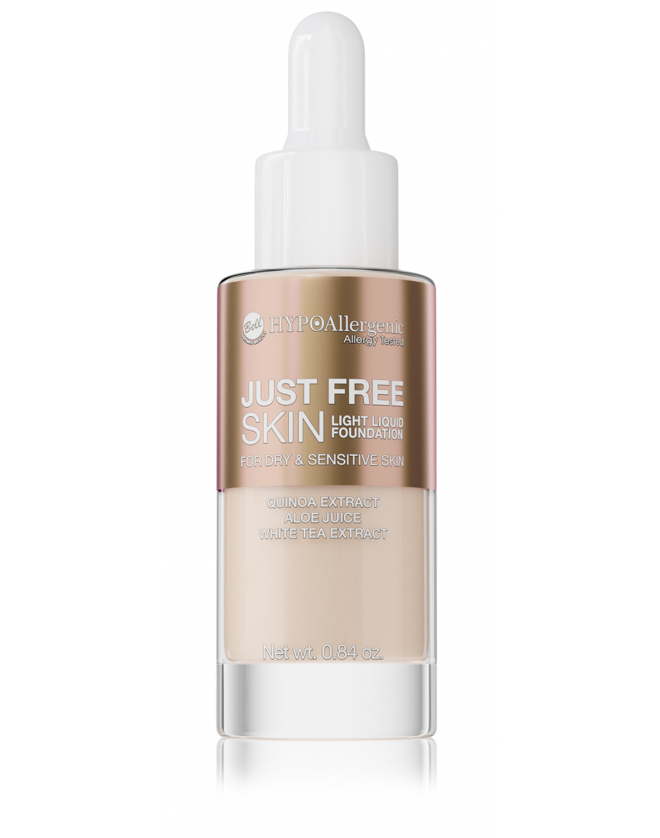 Флюїд Just Free Skin Light Foundation 02 Hypo Allergenic Bell