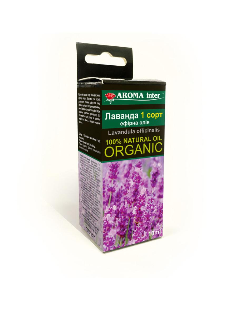 Ефірна олія Лаванда 1 сорт 10 мл Aroma Inter