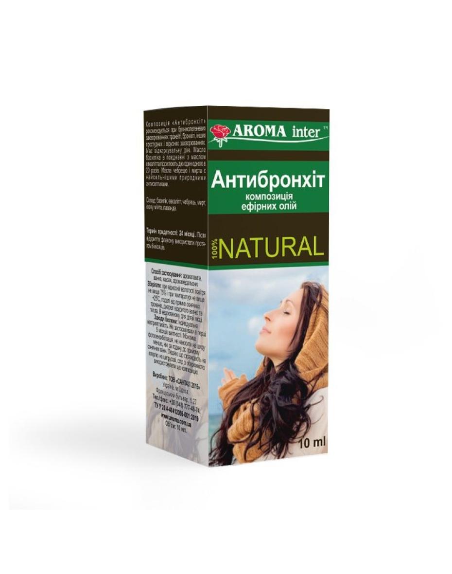 Композиція ефірних олій Антибронхіт 10 мл Aroma Inter