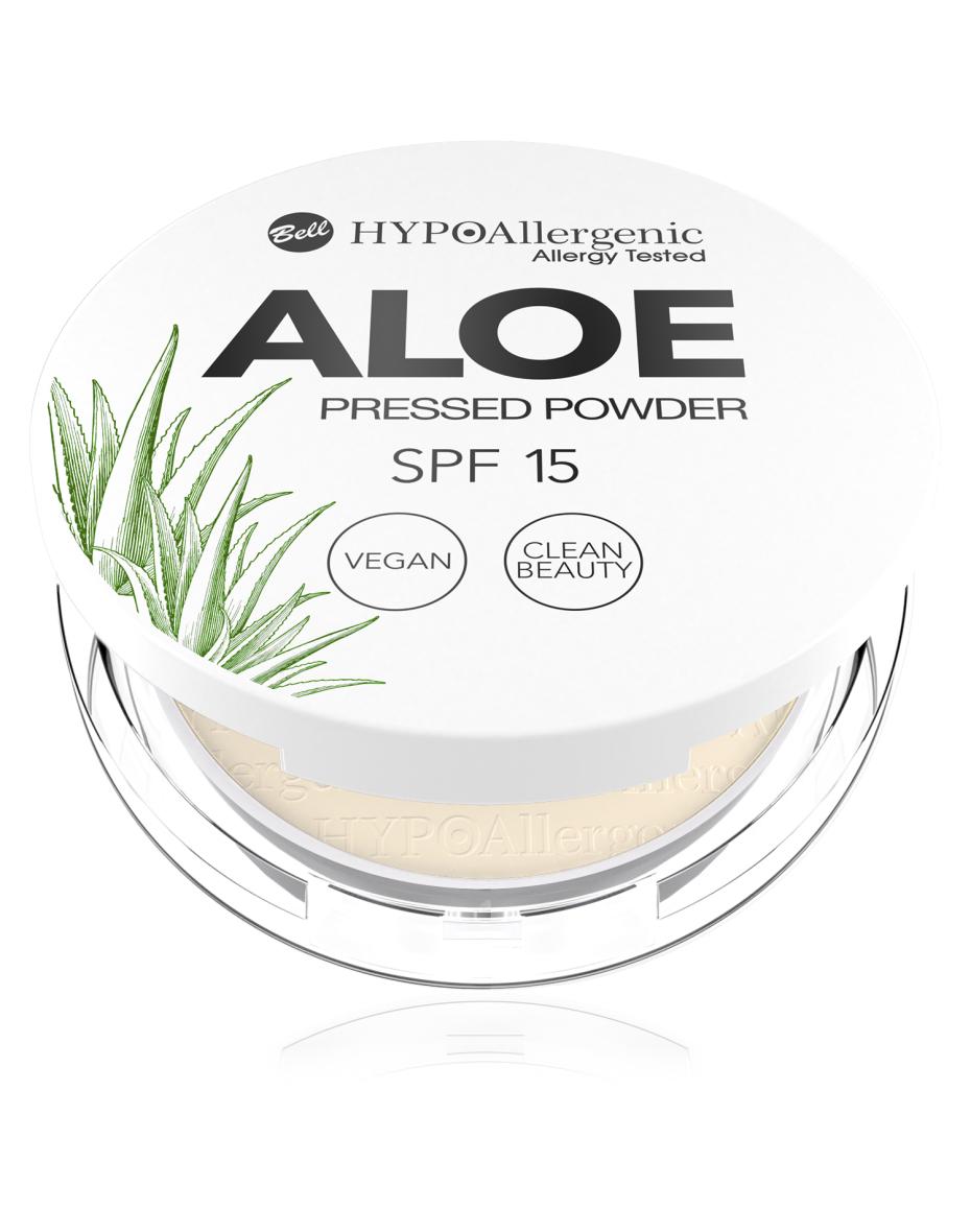 Пудра пресована Aloe Pressed Powder SPF15 02 Hypo Allergenic Bell