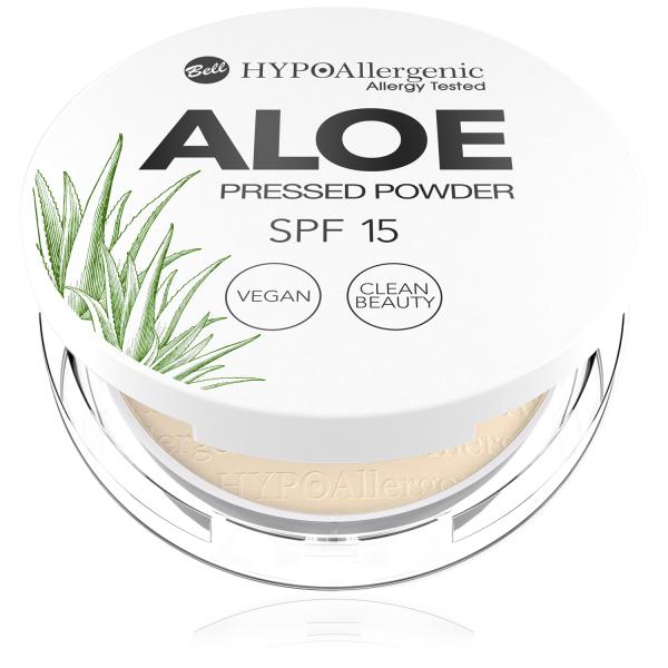 Пудра пресована Aloe Pressed Powder SPF15 03 Hypo Allergenic Bell