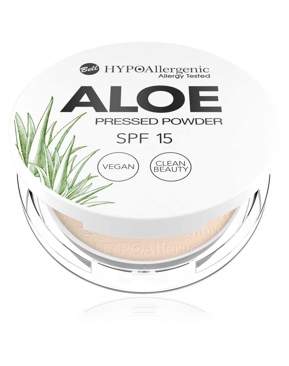 Пудра пресована Aloe Pressed Powder SPF15 04 Hypo Allergenic Bell