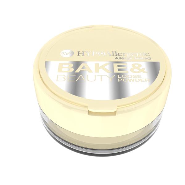 №01 Гіпоалергенна розсипчаста пудра для закріплення макіяжу Bake&Beauty Loose Powder Hypo Allergenic Bell