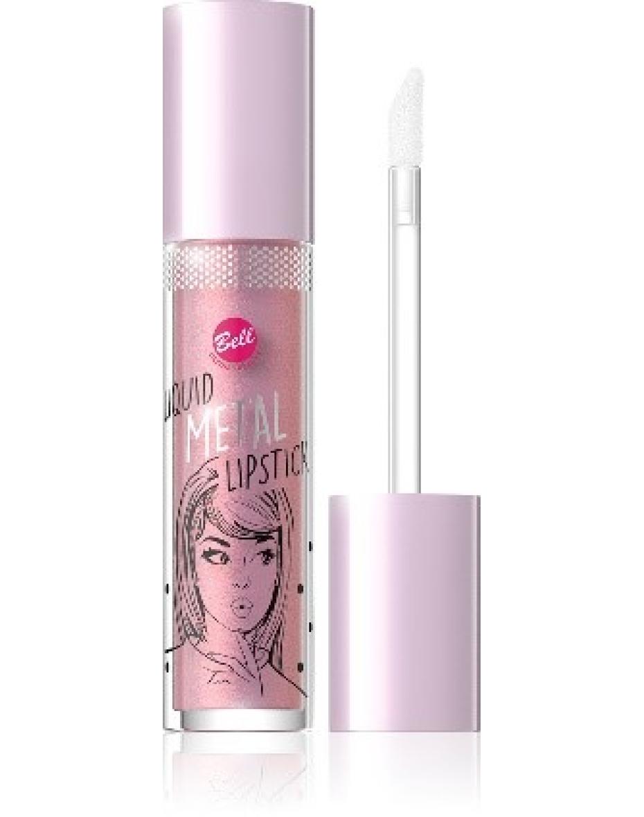№01 Помада жидкая с эффектом металлик Liquid Metal Lipstick Bell